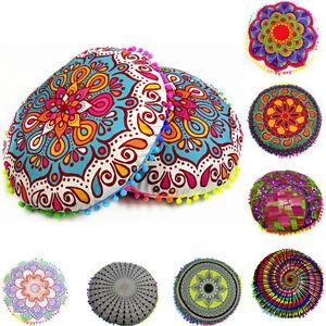 Indian-mandala-floor-pillow-case-throw-rond-bohemien-footstool-housse-de-coussin-sham-uk