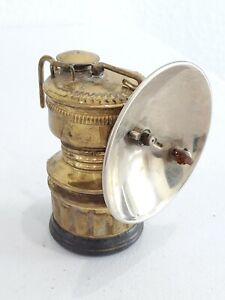 Vintage Guy's Dropper Carbide Miners Brass Hat Lamp Lantern