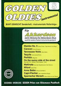 ECORA Akkordeon Noten : Golden Oldies 3  mittelschwer mit 2 Stimme ad. lib.