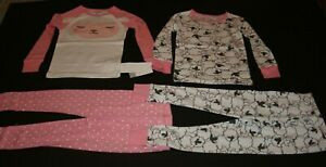 Lovely New Carter's Girls 4 Piece Pjs 4t Pajamas 2 Tops & 2 Pants Sheep Lamb Face Clothing, Shoes & Accessories
