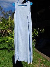 FLAX S Blueberry Gelato Sunshine Slipster B40 L51 blue linen dress
