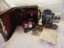 Vintage Paillard Bolex H8 8mm Movie Camera W/3 Lenses & Accessories-Near Mint