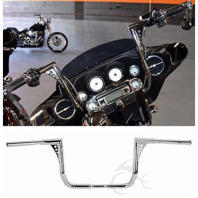 """Chrome 1 1/4"""" 14"""" Rise Ape Hanger HandleBar For Harley Touring Dressers Baggers"""