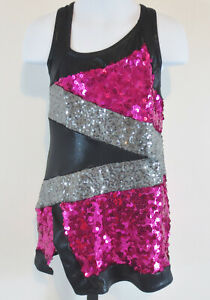 A-Wish-Come-True-Girls-Size-SC-Pink-Black-Silver-Dance-Costume-Outfit