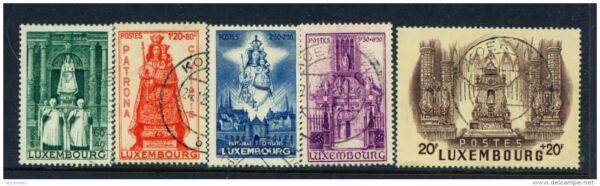 Ambitieux Luxembourg - 1945 Notre Dame De Luxembourg Set Utilisé Comme Scan