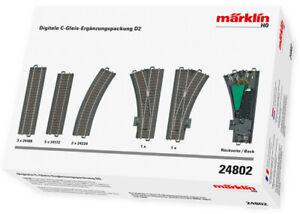 Maerklin-24802-Digitale-C-Gleis-Ergaenzungs-Packung-D2-NEU-in-OVP