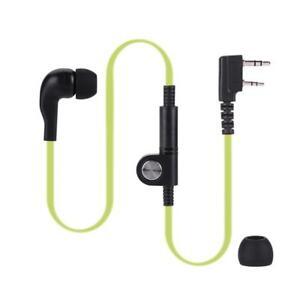 2Pin EarPiece Earphone Headset PTT Microphone for Kenwood Baofeng Walkie Talkie