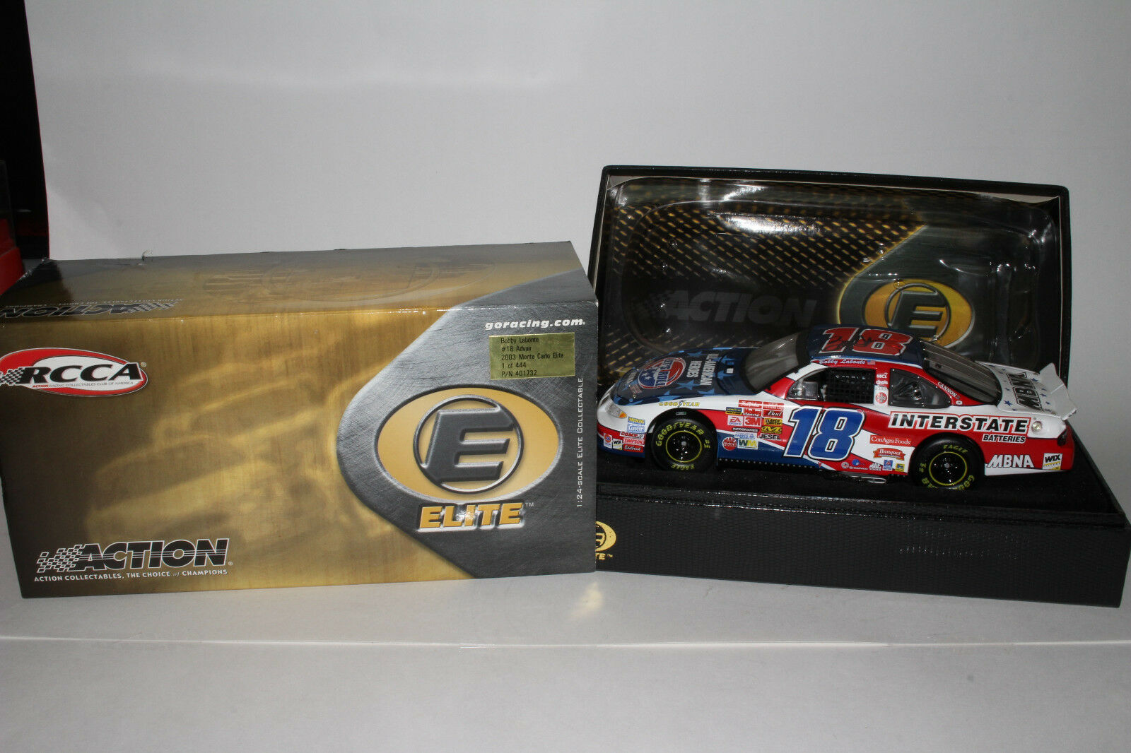 Action Rcca Elite Bobby Labonte  18 Advair 2003 Chevy Monte Carlo, Dédicacé