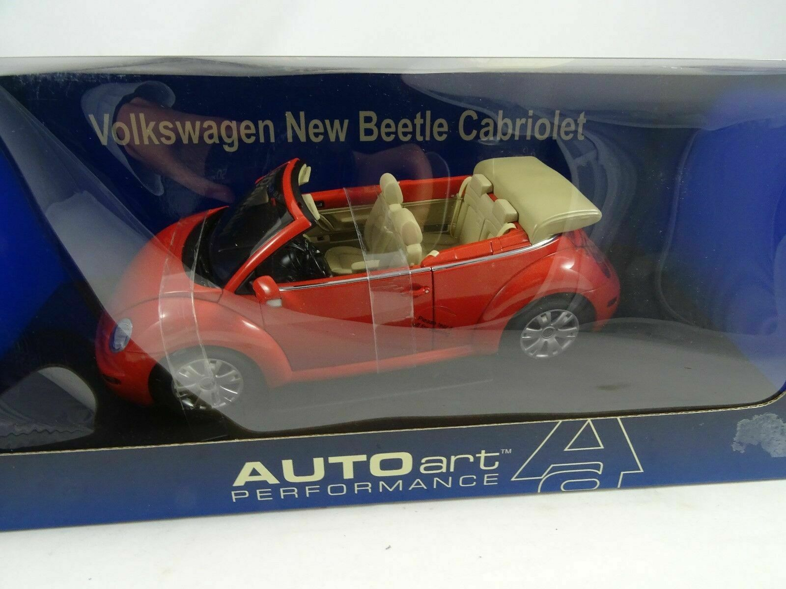 1 18 Autoart 79754 VW Volkswagen New Beetle Cabriolet Sundown naranja