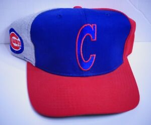 154e6ded7e8 RARE STARTER Vintage CHICAGO CUBS The Classic Snapback Hat TRI-COLOR ...