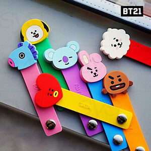 BTS-BT21-Official-Authentic-Goods-Cable-Band-7Characters-SET-By-Kumhong-Fancy