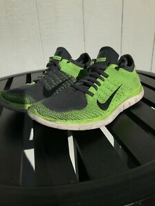 hot sale online 303ba a82f5 Image is loading Nike-free-Fylknit-4-0-Mens-Green-Gray-