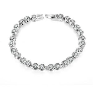 14K-white-gold-Made-with-Swarovski-Crystals-link-tennis-bracelet