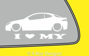 2x-LOVE-LOW-Ford-Puma-car-outline-silhouette-window-Bumper-sticker-decal-LR327