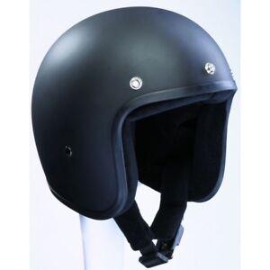 Casco-BANDIT-Jet-Negro-Mate-Moto-NO-HOMOLOGADO-BANDIT-Jet-Dull-Black-Custom