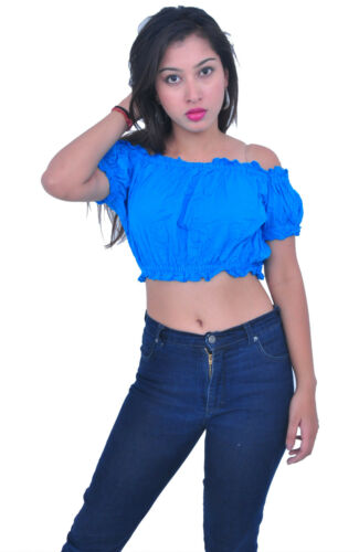 Belly Dance Tops Cotton with Puff Sleeve Blouse 10 Pcs Choose Colors