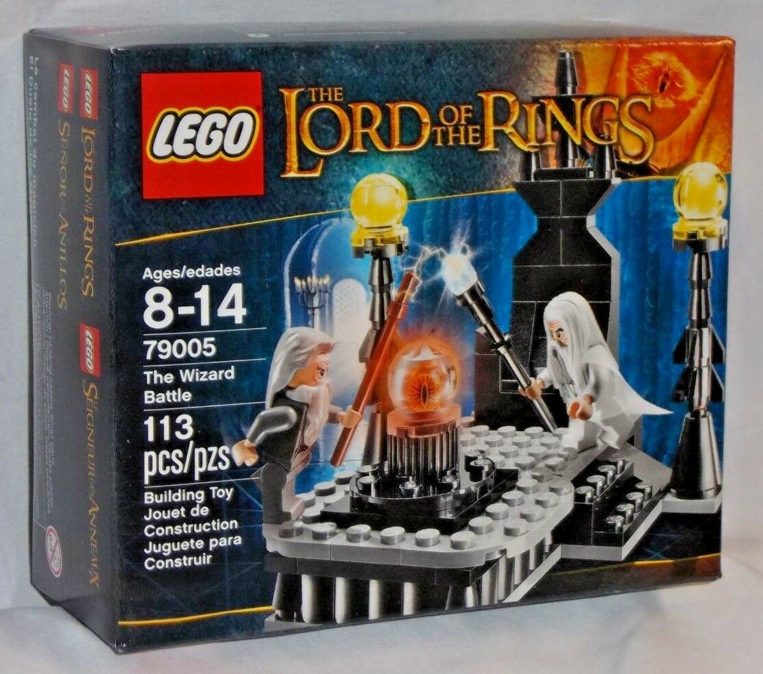 SEALED 79005 LEGO Lord Rings Rings Rings WIZARD BATTLE Gandalf Saruman Throne 113 pc set c01af6