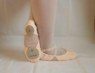 Alta Qualità Di Balletto Scarpe Ballettschläppchen Con Elastico Inserto Nuovo-chen Mit Elastischem Einsatz Neu It-it