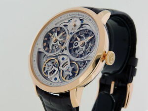 Arnold & Son DBG Skeleton Dual Time 1 dgap.S10A.C12OP 18k ROSE ORO $38,900 Nuovo con Scatola