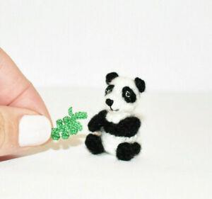 Miniature-Panda-Ooak-Artist-Bear-Dollhouse-Dolls-Toy-Animal-Teddy-Bear-Gift-1-2-034