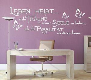 Wandtattoo-Spruch-Leben-heisst-mehr-Traeume-Seele-Wandsticker-Aufkleber-Sticker