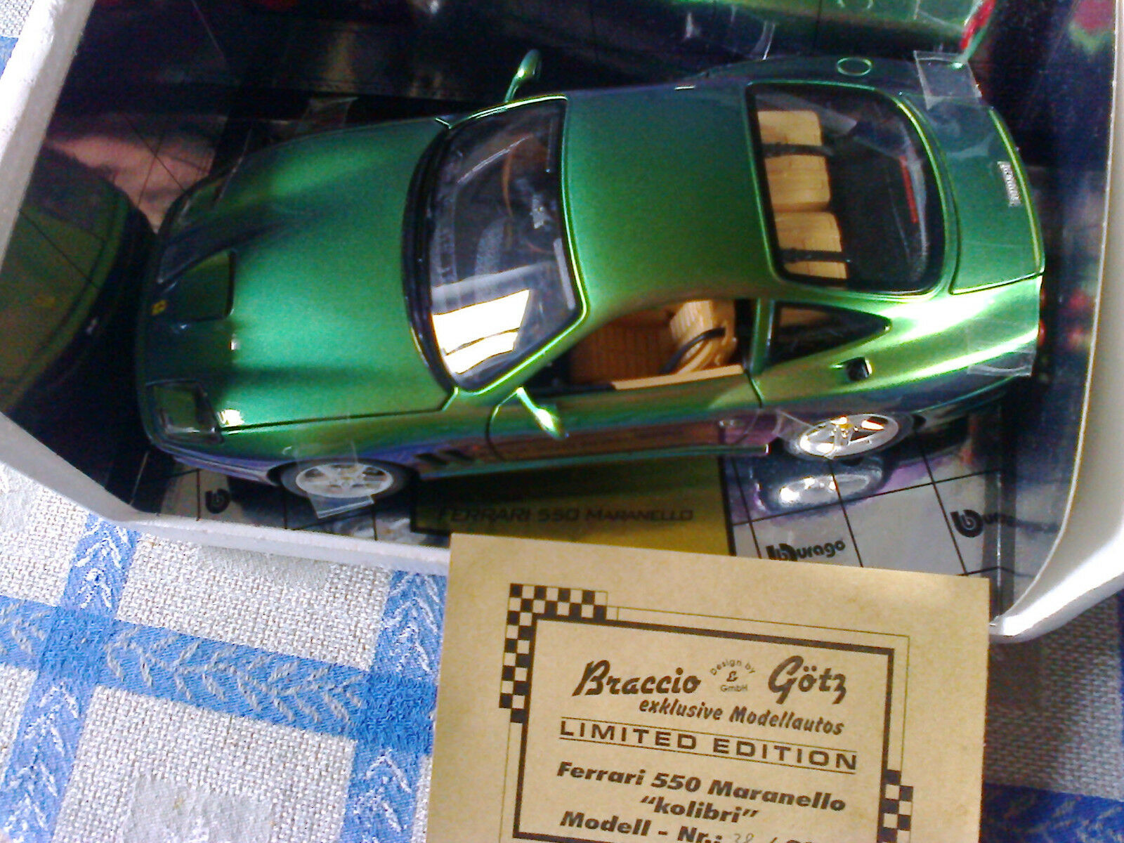 prezzo basso Ferrari Maranello Kolibri Kolibri Kolibri Braccio & Goetz Bburago 1 18  la migliore moda