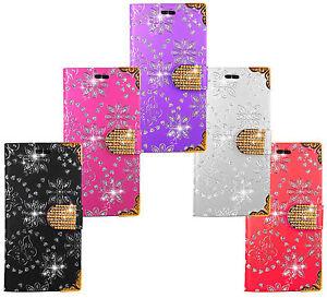 Samsung-Housse-Etui-Flip-Diamant-Coque-Portefeuille-en-Cuir-Wallet-Cover-Case