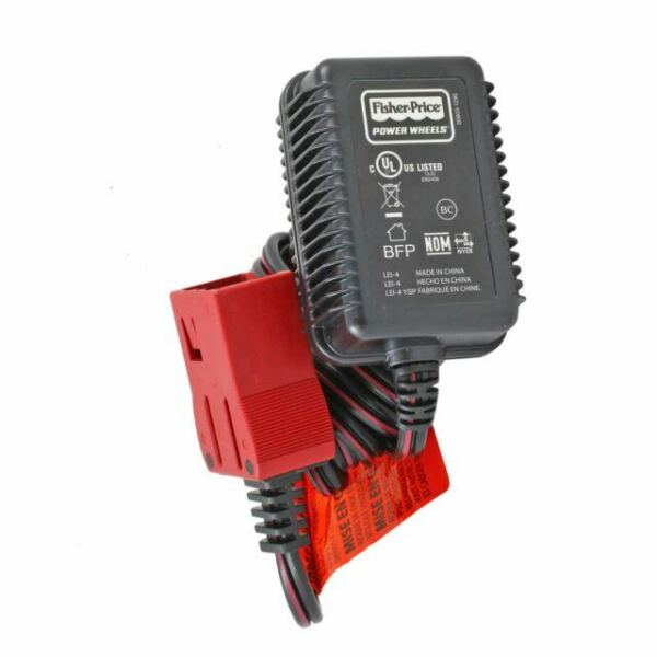 Power Wheels P5063 Firerock Jeep Wrangler Replacement 6 Volt Battery Charger