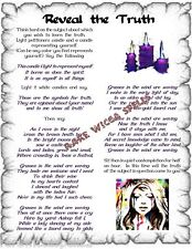 Banish Lies Reveal Truth Spell 1pg Wicca Book of Shadows Pagan Magic Rituals