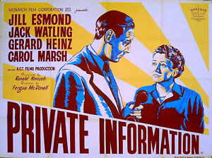 PRIVATE-INFORMATION-1951-Jill-Esmond-Jack-Watling-Carol-Marsh-UK-QUAD-POSTER