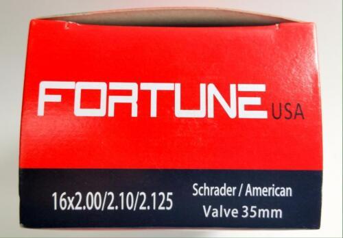 """Fortune USA Inner  Tube Shrader American Valve 35mm 16inch 16/"""" x 2.0 2.125 Butyl"""
