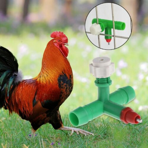 10 Pcs//Bag Chicken Water Drinker Cup Nipple Poultry Dispenser Feeder Automatic