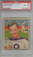1935 National Chicle Football Card #8 Jim Zyntell-Philadelphia Eagles