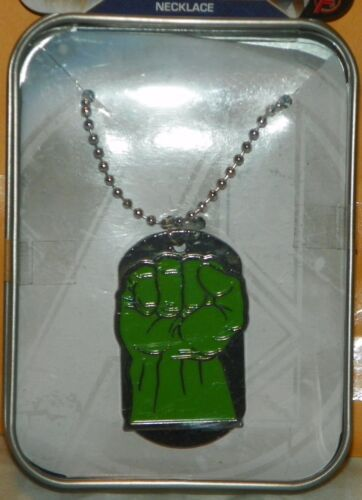 """/""""NEW/"""" The Avengers ~ INCREDIBLE HULK ~ DOGTAG Dog Tag NECKLACE /& Collector Tin"""