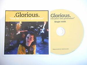 GLORIOUS-UNE-VIE-POUR-UNE-GENERATION-pape-CD-PROMO-PORT-GRATUIT