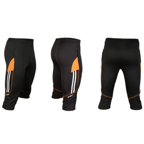 2018 Mens Soccer Football Athletic Training Track 3//4 3-Quater Pants Trousers