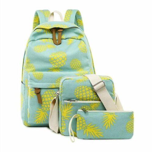 Details about  /Children School Bags Teenage Girls Cute Canvas School Backpack School Pineapple