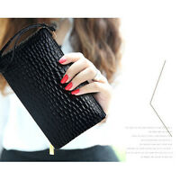 Girl hand bag ladies wallet bag phone bag long crocodile grain purse Coin Purses