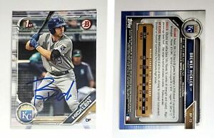 Brewer Hicklen Signed 2019 Bowman Prospects #BP72 Card Kansas City Royals Auto