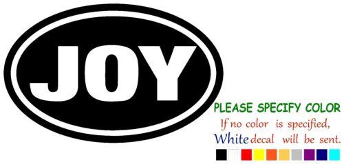 """JOY EURO OVAL Funny Vinyl Decal Sticker Car Sticker truck Window laptop 7/"""""""