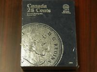 2485 Canada 25 Cents Coin Album, Starting 2001 Till 2009 Brand Whitman