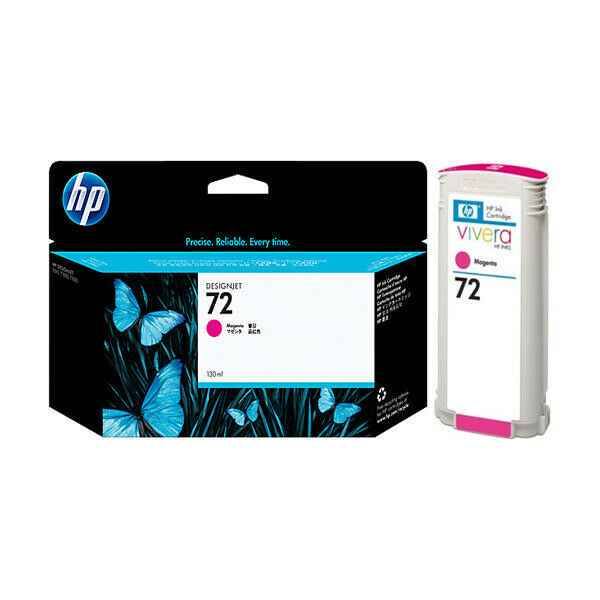 HP Genuine 72 Magenta Single Unit Designjet Ink Cartridge (Sealed Package)