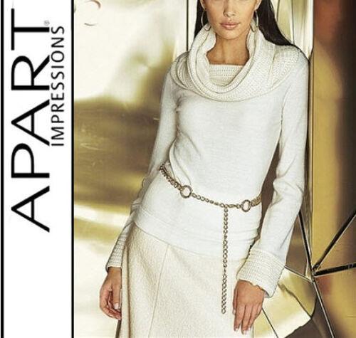 NUOVO 44 46 Apart Offwhite elegante Pullover 50/% LANA Mega collo tg WOW 488300