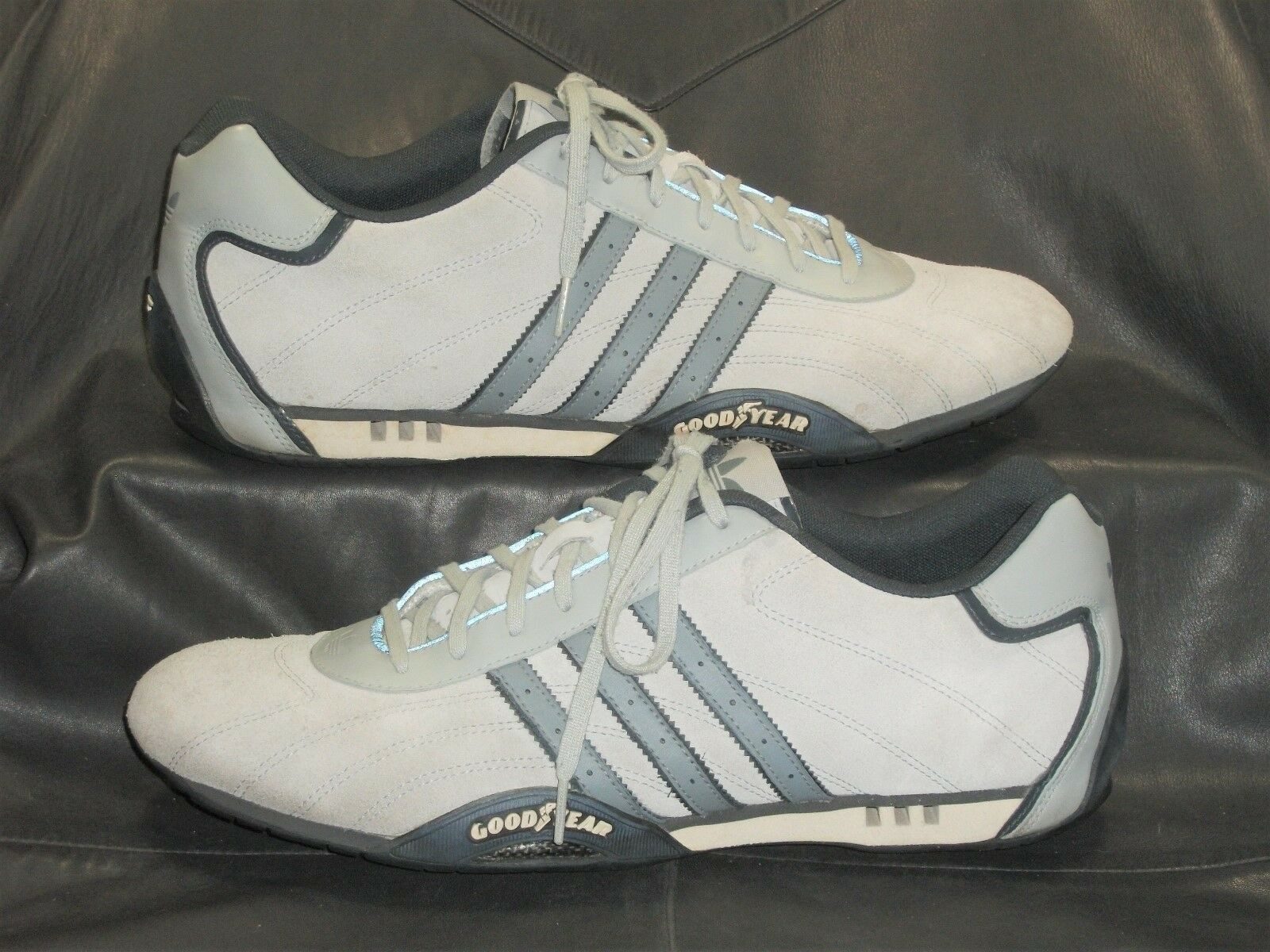 adidas trim mens light Gray suede w/synthetic trim adidas casual athletic oxford size US 13 27298e