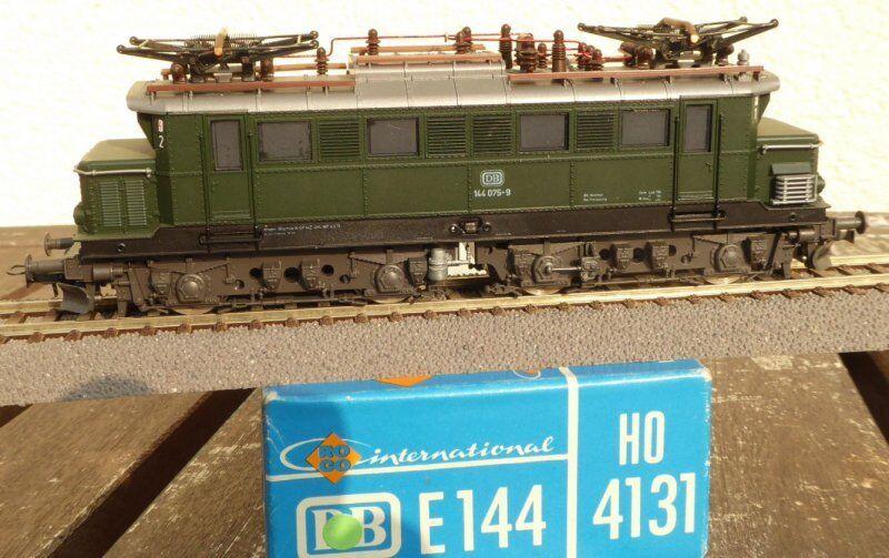 Roco 4131 H0 Locomotiva Elettrica Br 144 075-9 Db Ep.4 Del Bw Freilassing, Usato