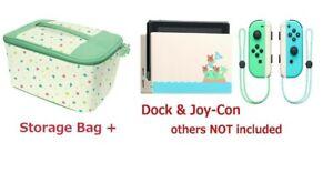 Nintendo-Switch-Animal-Crossing-Bolsa-De-Almacenamiento-Dock-Joy-Con-3-juego-nuevos-horizontes