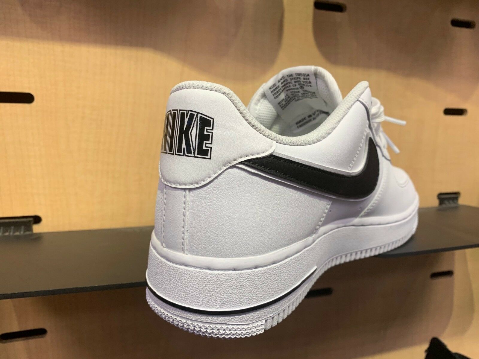 Nike Air Force 1 Low White Black Special Logo Size 8-13 New DS O2423-101