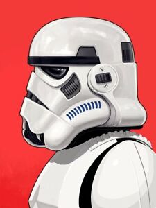 Mike-Mitchell-Stormtrooper-print-movie-poster-portrait-Star-Wars-Signed-Numbered