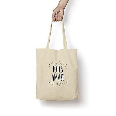 Totes Amaze Tote Bag 5oz Premium Quality Natural Cotton Shopper Baby Shower Gift