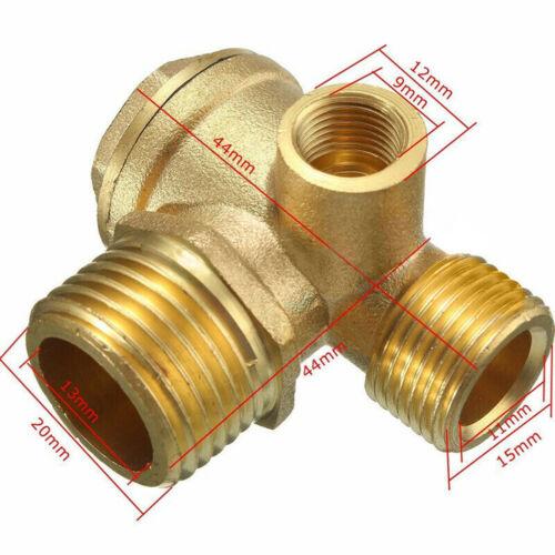 90 Degree 3 Port Brass Central Pneumatic 40400 Air Compressor Check Valve EIJ